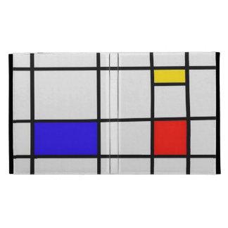 Piet Mondrian Modern Art iPad Folio Covers