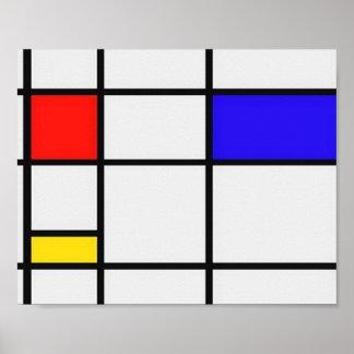 Piet Mondrian Modern Art Poster