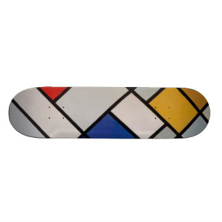 Piet Mondrian Modern Art Skateboard