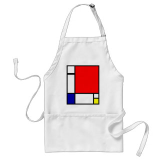 Piet Mondrian - Neoplastic Art Adult Apron