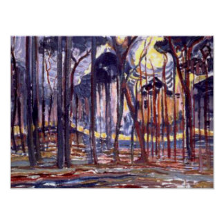 Piet Mondrian painting, Forest Poster