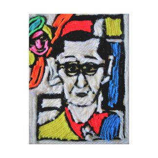 Piet Mondrian self portrait on streched canvas