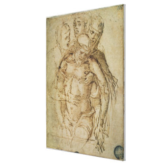 Pieta, attributed to either Giovanni Bellini (c.14 Canvas Print