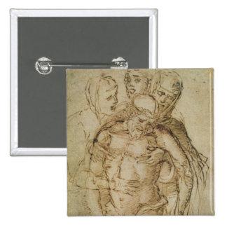 Pieta, attributed to either Giovanni Bellini (c.14 Pinback Button