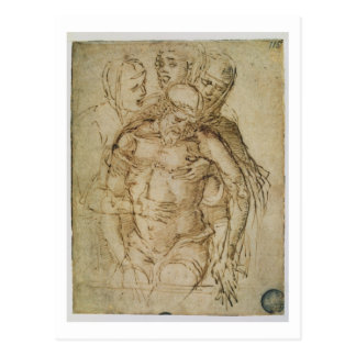 Pieta, attributed to either Giovanni Bellini (c.14 Postcard