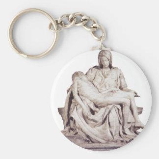 Pieta Basic Round Button Keychain