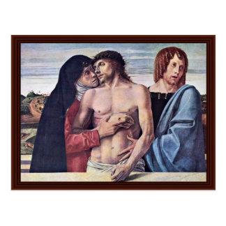 Pietà By Bellini Giovanni Post Card