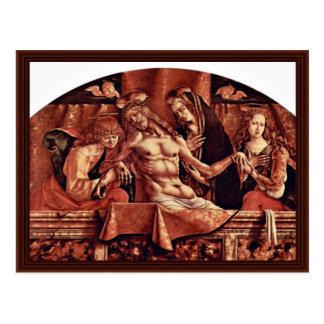 Pietà By Crivelli Carlo Post Card