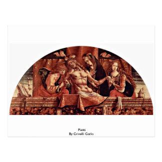 Pietà By Crivelli Carlo Postcard