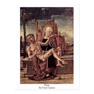 Pieta By Tura Cosimo Postcard