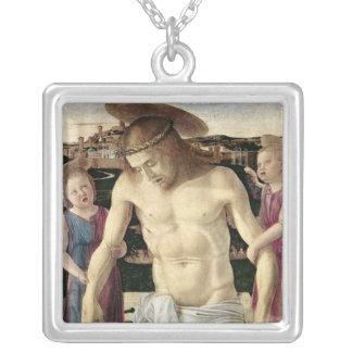 Pieta, c.1499 silver plated necklace