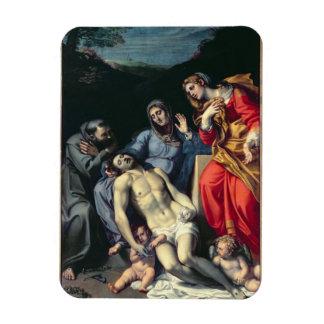 Pieta con St Francis y St Mary Magdalena, c.1 Imanes Rectangulares