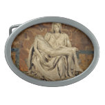 Pieta de Miguel Ángel Hebilla De Cinturón Oval