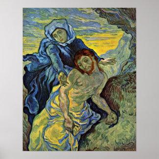 Pieta (después de Delacroix) por Vincent Willem Póster