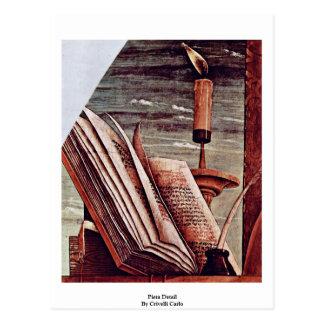 Pieta Detail By Crivelli Carlo Post Card