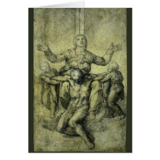 Pieta for Vittoria Colonna by Michelangelo Card