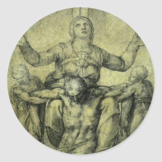 Pieta for Vittoria Colonna by Michelangelo Classic Round Sticker