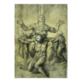 Pieta for Vittoria Colonna by Michelangelo Invite