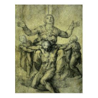 Pieta for Vittoria Colonna by Michelangelo Postcard