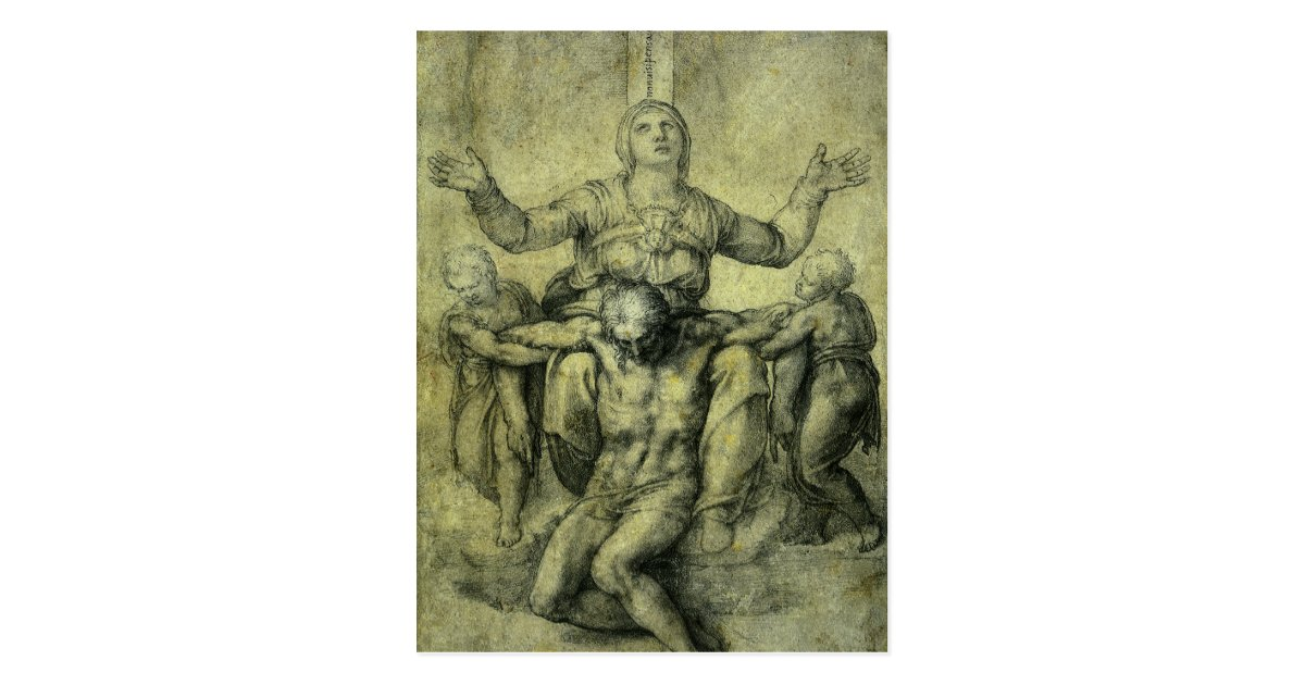 Pieta For Vittoria Colonna By Michelangelo Postcard Zazzle Com