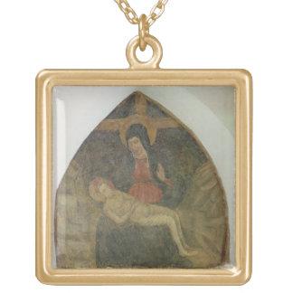 Pieta (fresco) gold plated necklace