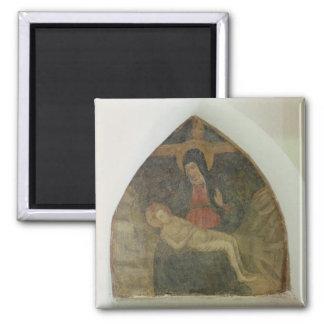 Pieta (fresco) imán cuadrado