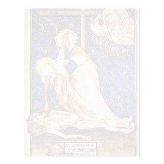 Pieta From Villeneuf-Les-Avignon By Meister Der Pi Letterhead