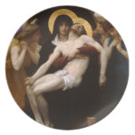 pieta Jesus Christ and Virgin Mary Plate
