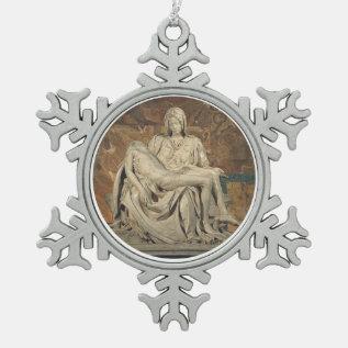 Pieta Pewter Ornament at Zazzle