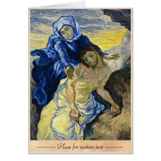 Pieta Vincent van Gogh fine art painting Card