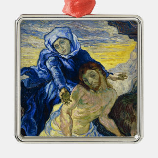 Pieta Vincent van Gogh fine art painting Metal Ornament