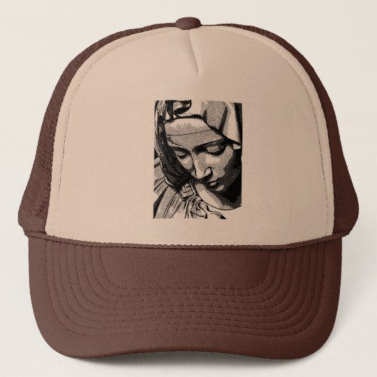 PIETA VIRGIN MARY  TRUCKER HAT