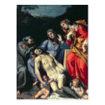 Pieta with St. Francis and St. Mary Magdalene, c.1 Post Card