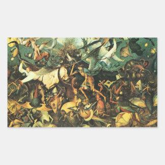 Pieter Bruegel - caída del Angelsby Pieter Brueg Rectangular Pegatinas