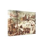 Pieter Bruegel - Census at Bethlehem Gallery Wrap Canvas
