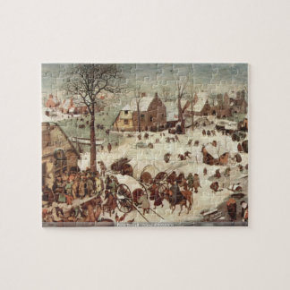 Pieter Bruegel - Census at Bethlehem Jigsaw Puzzle