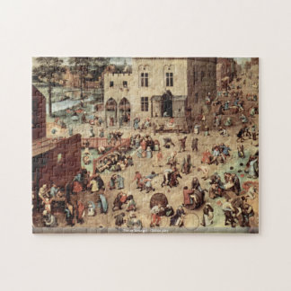 Pieter Bruegel - Childs play Jigsaw Puzzle