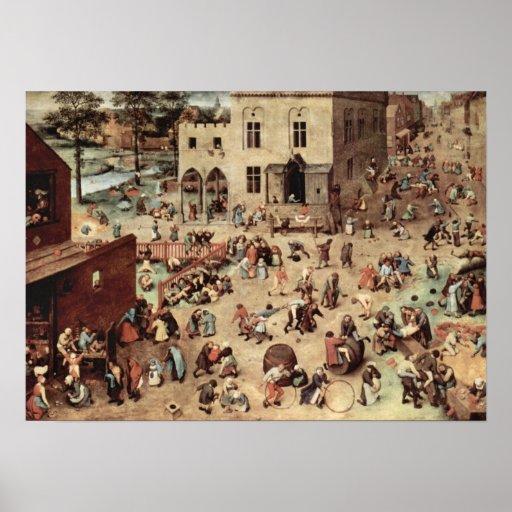 Pieter Bruegel-Child's play Posters