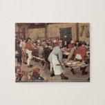 Pieter Bruegel - Country wedding Jigsaw Puzzle
