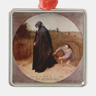 Pieter Bruegel el más viejo misántropo Ornamento Para Arbol De Navidad