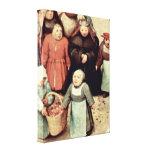 Pieter Bruegel Elder - The childrens games Gallery Wrapped Canvas