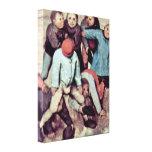 Pieter Bruegel Elder - The childrens games Canvas Prints