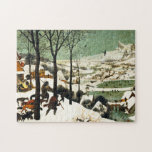 """Pieter Bruegel Hunters in the Snow Puzzle<br><div class=""""desc"""">Pieter Bruegel Hunters in the Snow puzzle. Oil painting on wood from 1565. Pieter Bruegel the Elder was one of the great painters of the Northern Renaissance. Hunters in the Snow is one of the artist's most famous paintings. The work features hunters and their hunting dogs moving over a hill...</div>"""