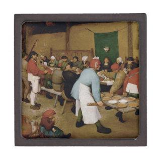 Pieter Bruegel la anciano - boda campesino Caja De Recuerdo De Calidad
