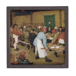 Pieter Bruegel la anciano - boda campesino Caja De Regalo De Calidad