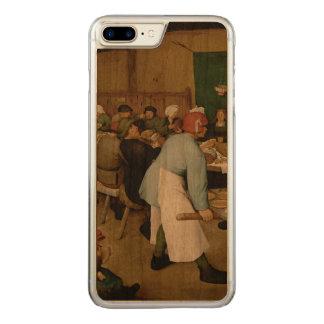 Pieter Bruegel la anciano - boda campesino Funda Para iPhone 7