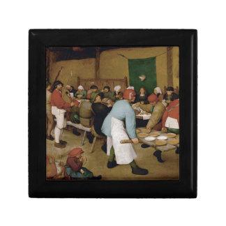 Pieter Bruegel la anciano - boda campesino Joyero Cuadrado Pequeño