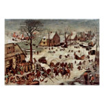 Pieter Bruegel la anciano - censo en Belén Posters