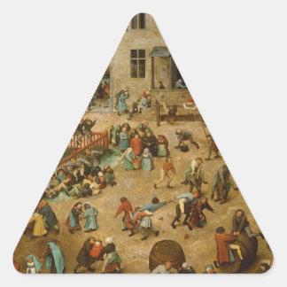 Pieter Bruegel la anciano - los juegos de los Calcomanías Trianguloes