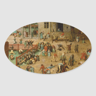 Pieter Bruegel la anciano - los juegos de los Pegatina Oval